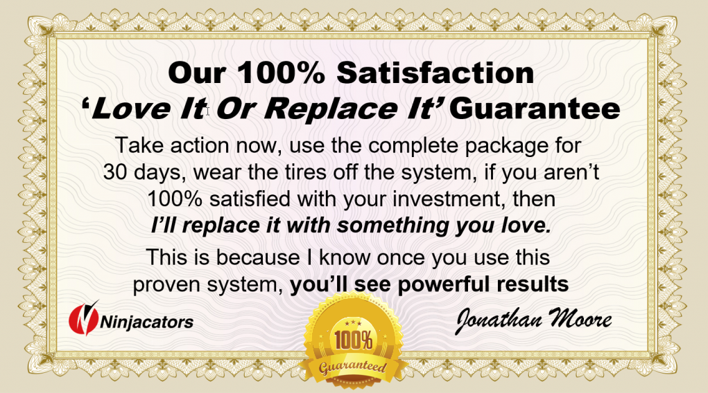 Try it out for 30 days, if you don't love it, we'll replace it; 100% satisfaction guaranteed.